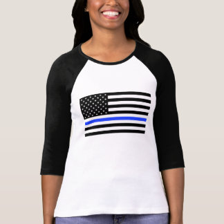 Women's Blue Line Flag Shirt