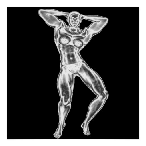 Womens Bodybuilding Poster