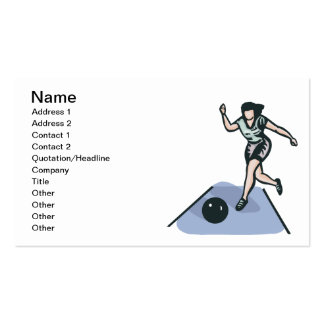 Womens Bowling Business Cards
