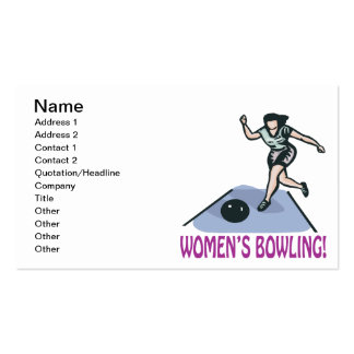 Womens Bowling Business Card
