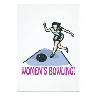 Womens Bowling 5x7 Paper Invitation Card