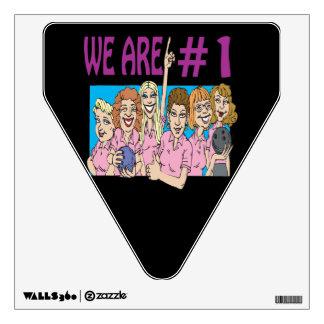 Womens Bowling Team 3 Wall Sticker