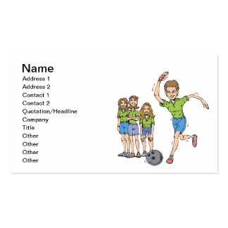 Womens Bowling Team Business Cards
