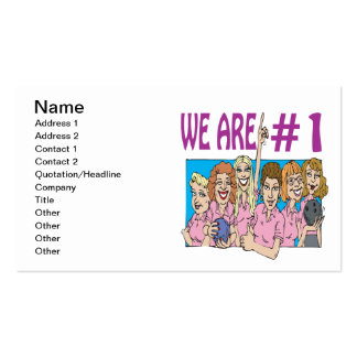 Womens Bowling Team Business Card