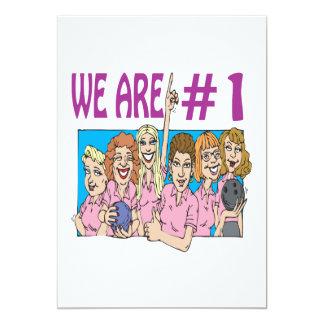 Womens Bowling Team 5x7 Paper Invitation Card