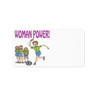 Womens Bowling Team Label