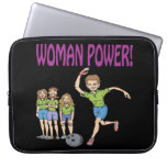 Womens Bowling Team Laptop Sleeve