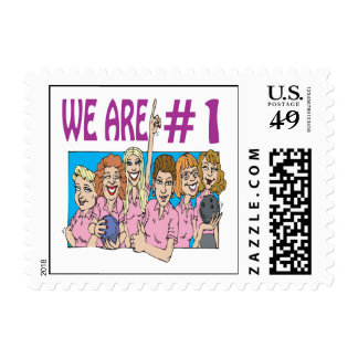 Womens Bowling Team Stamp