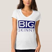 Womens BS White & Black Logo V-Neck T-Shirt