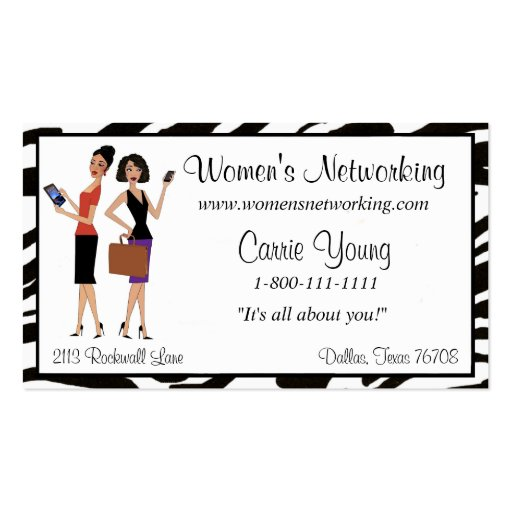 Womens Business and Networking Business Card