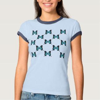 Women's Butterfly Tile Ringer Shirt