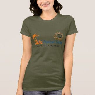 womens camo - kc tropical mist logo T-Shirt