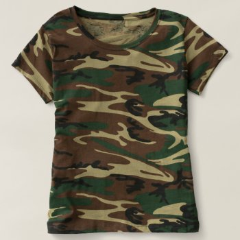 Women's Camouflage T-shirt by creativeconceptss at Zazzle