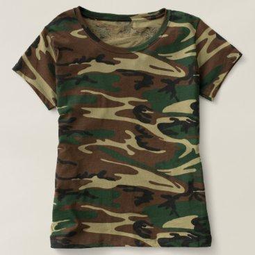 Beach Themed Women's Camouflage T-Shirt