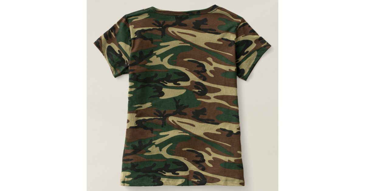 women 39 s camouflage t shirt zazzle. Black Bedroom Furniture Sets. Home Design Ideas