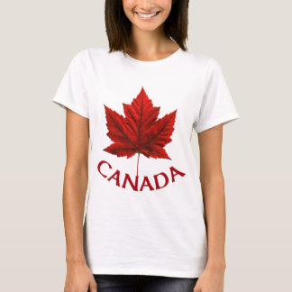 Women's Canada T-Shirt Lady's Maple Leaf T-shirt