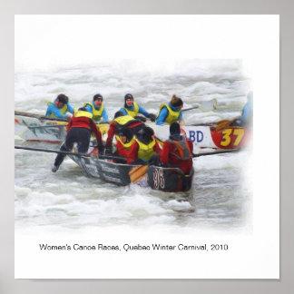 Women's Canoe Races - Quebec Winter Carnival 2010 Poster