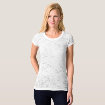 Beach Themed Women's Canvas Fitted Burnout T-Shirt