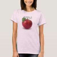 Women's Canvas Fitted Burnout T-Shirt APPLE