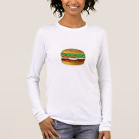 Women's Canvas Fitted Burnout T-Shirt BURGER