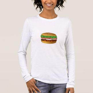Women's Canvas Fitted Burnout T-Shirt BURGER