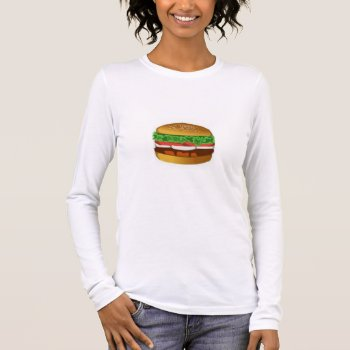 Women's Canvas Fitted Burnout T-shirt Burger by creativeconceptss at Zazzle