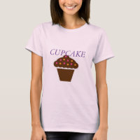 Women's Canvas Fitted Burnout T-Shirt CUPCAKE