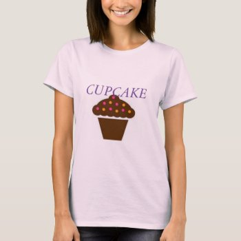 Women's Canvas Fitted Burnout T-shirt Cupcake by creativeconceptss at Zazzle