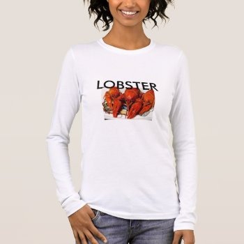 Women's Canvas Fitted Burnout T-shirt Lobster by creativeconceptss at Zazzle