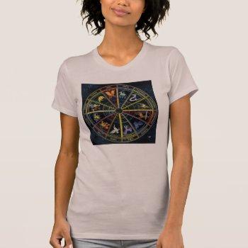 Women's Canvas Fitted Burnout T-shirt-zodiak T-shirt by creativeconceptss at Zazzle