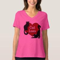 Women's Cat Lover T-Shirt Plus Size Cat Shirt