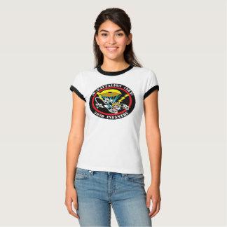 Women's Cat Patch Bella Ringer T-Shirt