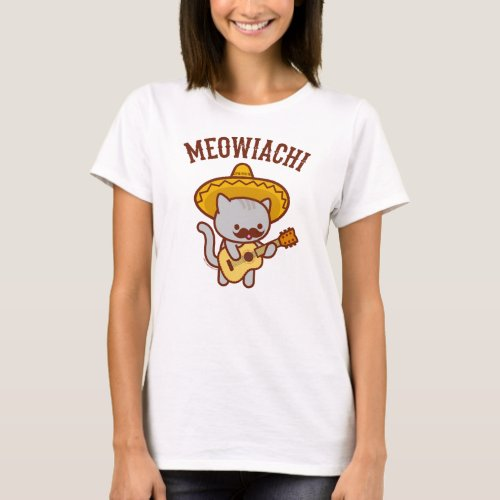 Womens Cat T_Shirt _ MEOWIACHI