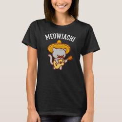 Women's Basic T-Shirt with Mustache Mugs design