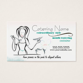 Women's Catering Business Cards