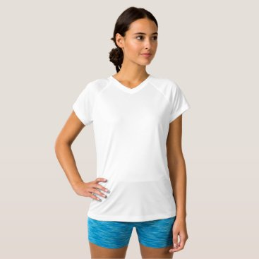Beach Themed Women's Champion Double Dry V-Neck T-Shirt