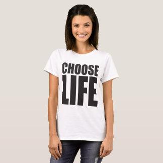 Womens Choose Life Large Print shirt