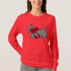 Women's Christmas Scottish Terrier Top T-Shirt
