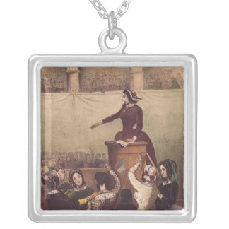 Women's Club, c.1848 Silver Plated Necklace