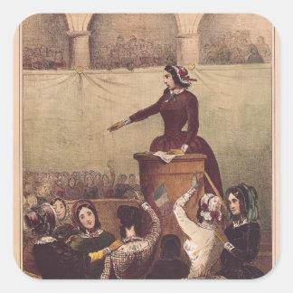 Women's Club, c.1848 Square Sticker
