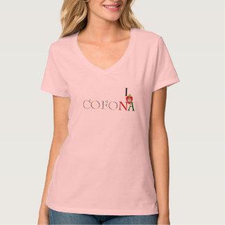 Women's Cofona Inc.I Love NA New Amsterdam Guyana T-Shirt