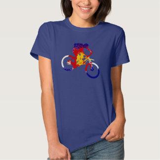 Women's Colorado flag mountain biker T-shirts