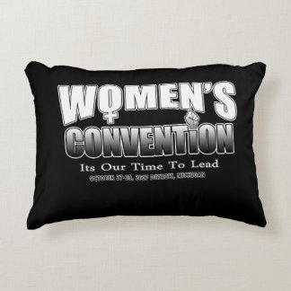 Women's Convention Movement - March Throw Pillow