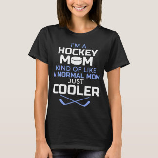 Women's Cool Hockey Mom T Shirt - Gift for Mothers