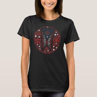 Women's Cool WordArt State of Ohio T-Shirt