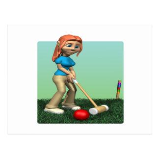 Womens Croquet Postcard