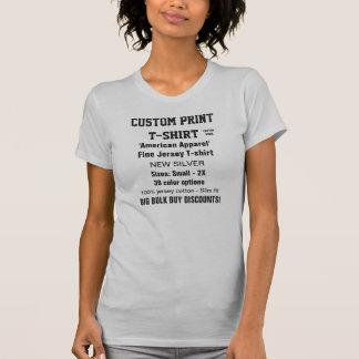 Women's Custom Print Fine Jersey T-shirt S. GREY