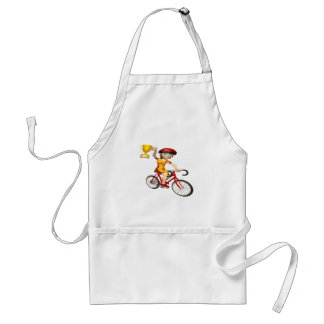 Womens Cycling Trophy Adult Apron