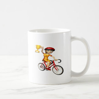Womens Cycling Trophy Coffee Mug