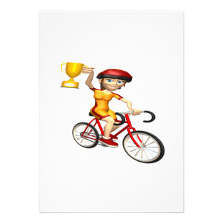 Womens Cycling Trophy Cards